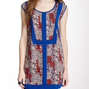 B.P. Collection Contrast Panel Printed Tunic Top